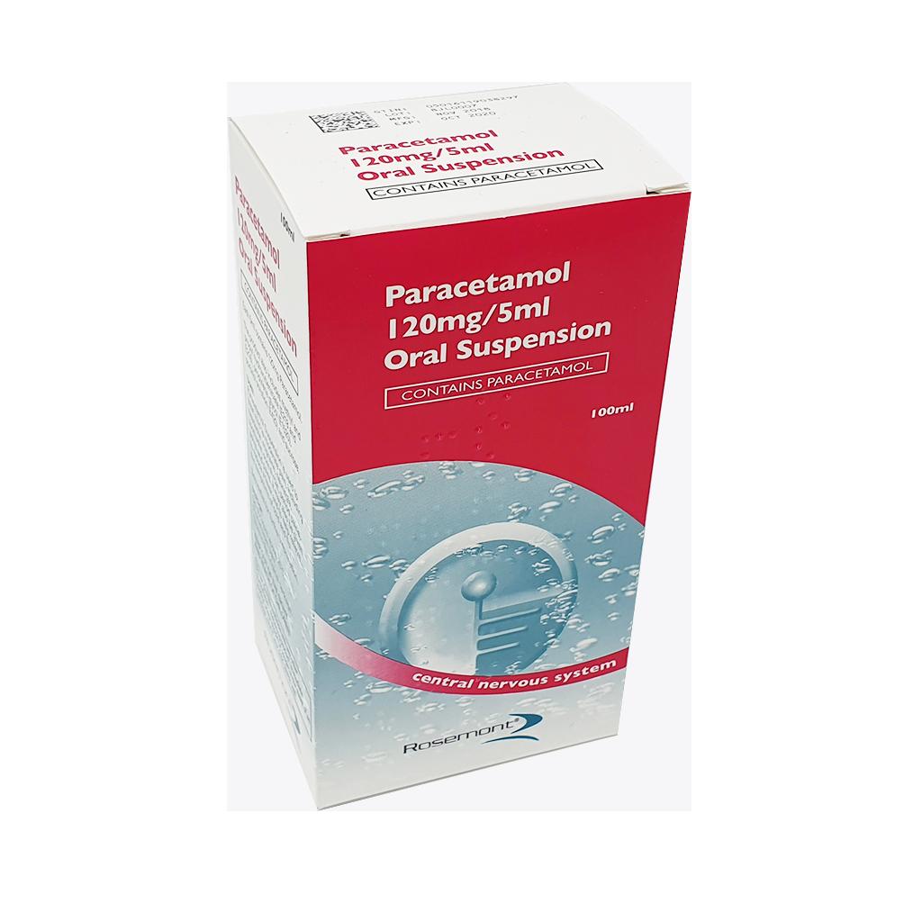 Paracetamol 120mg/5ml Suspension 100ml - Pain Relief