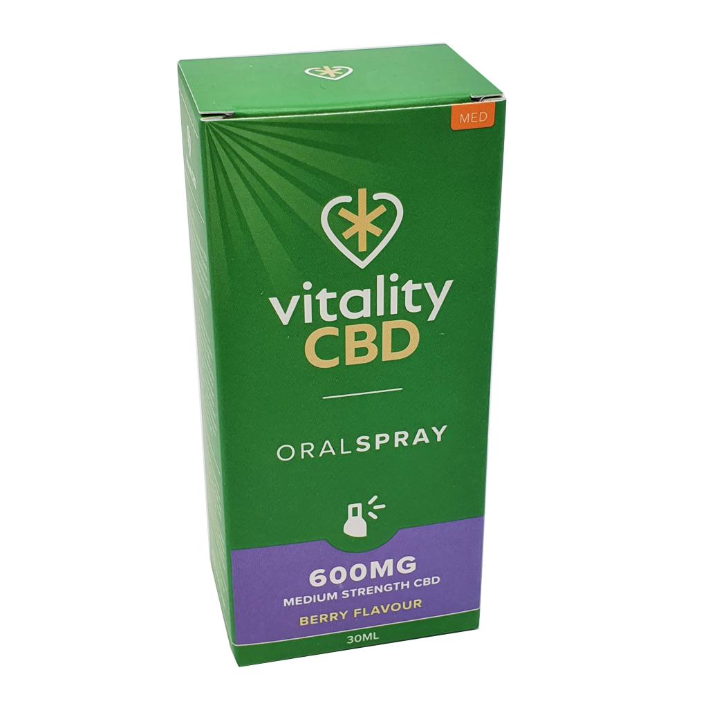 VitalityCBD Oral Spray 600mg Berry - Vitality CBD