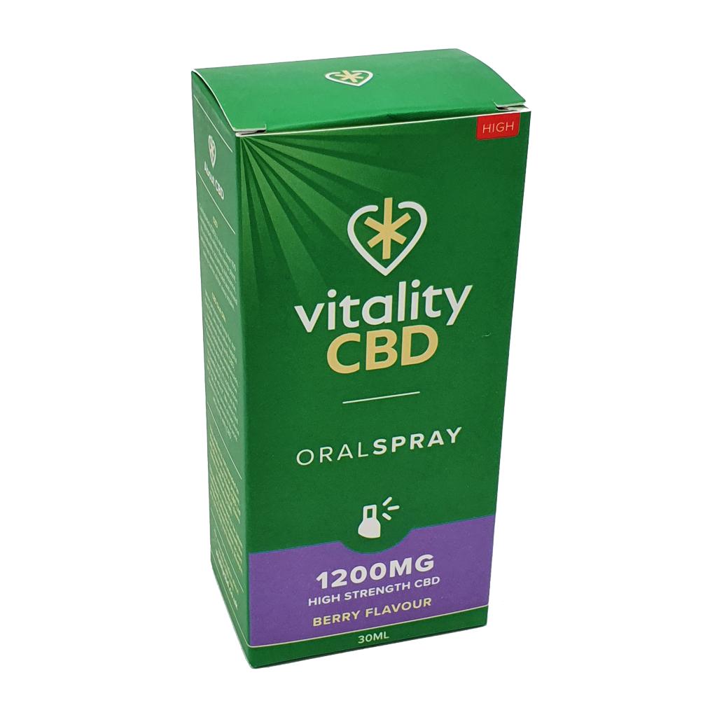 VitalityCBD Oral Spray 1200mg Berry - Vitality CBD