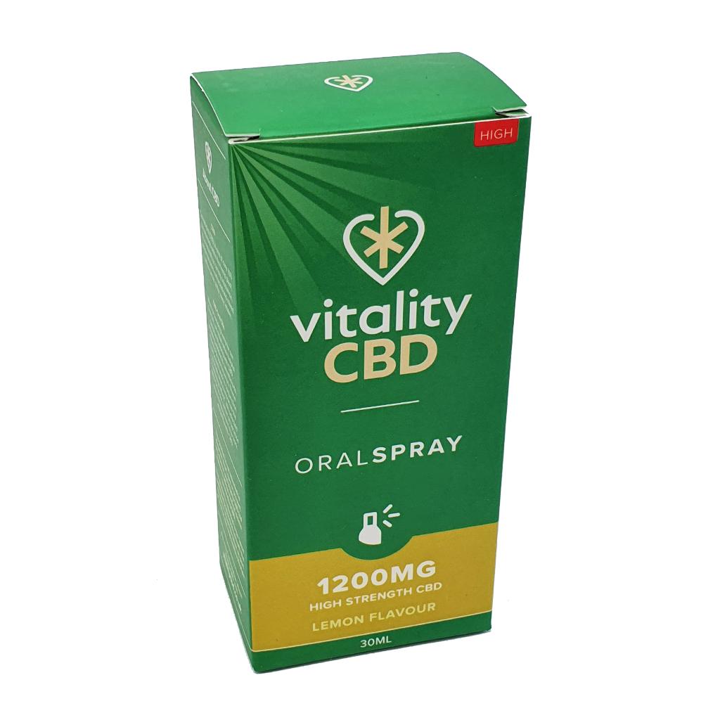 VitalityCBD Oral Spray 1200mg Lemon - Vitality CBD