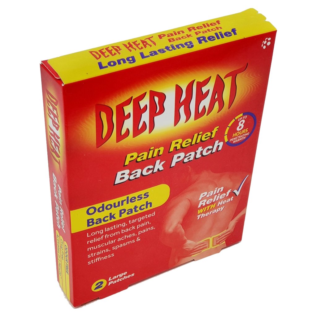 Deep Heat Patch For Back Pain 2 pack - Pain Relief