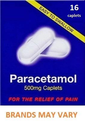 Paracetamol 500mg Caplets x 16 - Pain Relief