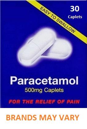 Paracetamol 500mg Caplets x 30 - Pain Relief