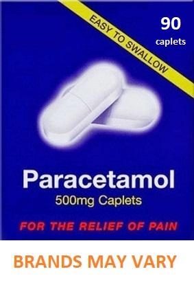 Paracetamol 500mg Caplets x 90 - Pain Relief