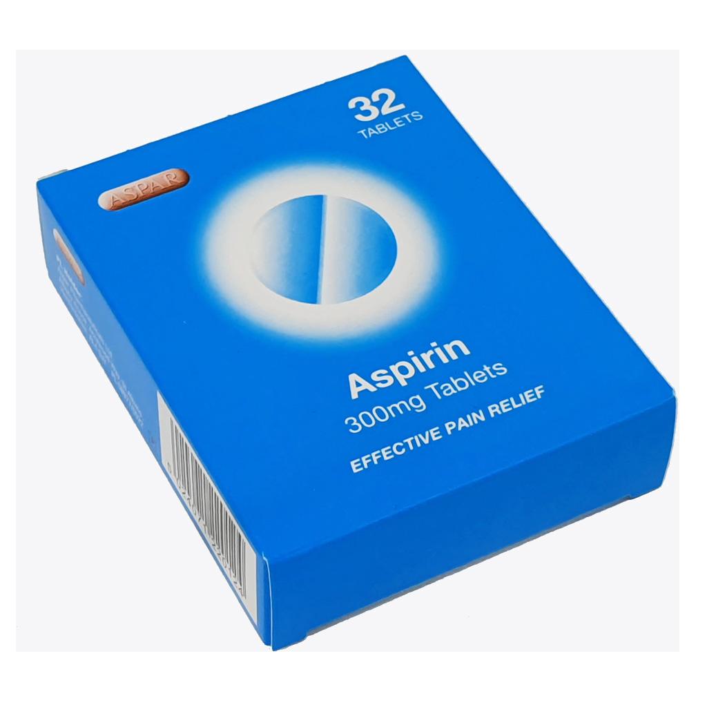 Aspirin 300mg Tablets x 32 - Pain Relief