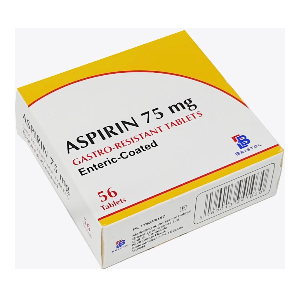 Aspirin E/C 75mg Tablets x 56 - Pain Relief