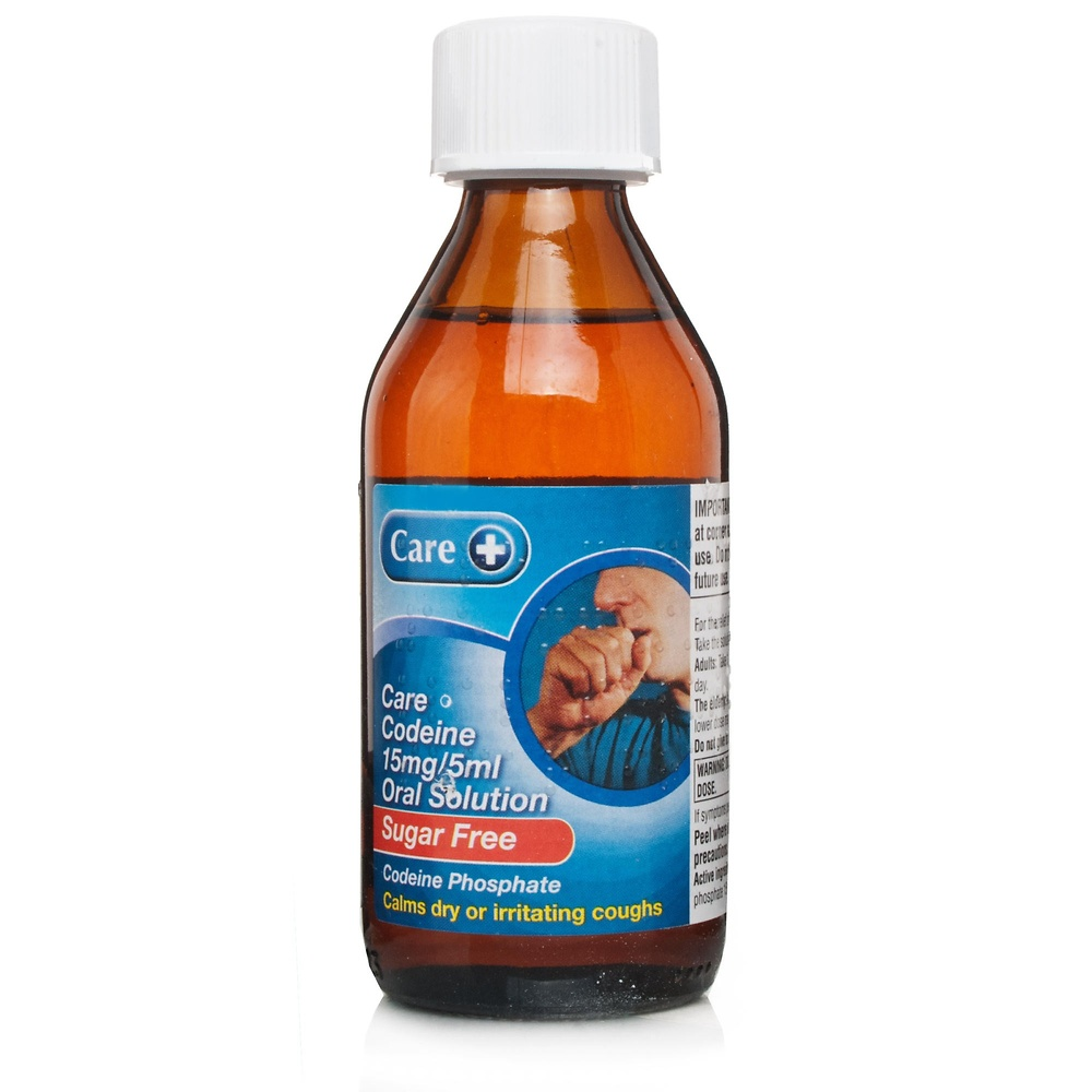 Codeine Linctus Sugar Free 15mg/5ml 200ml - Cold and Flu