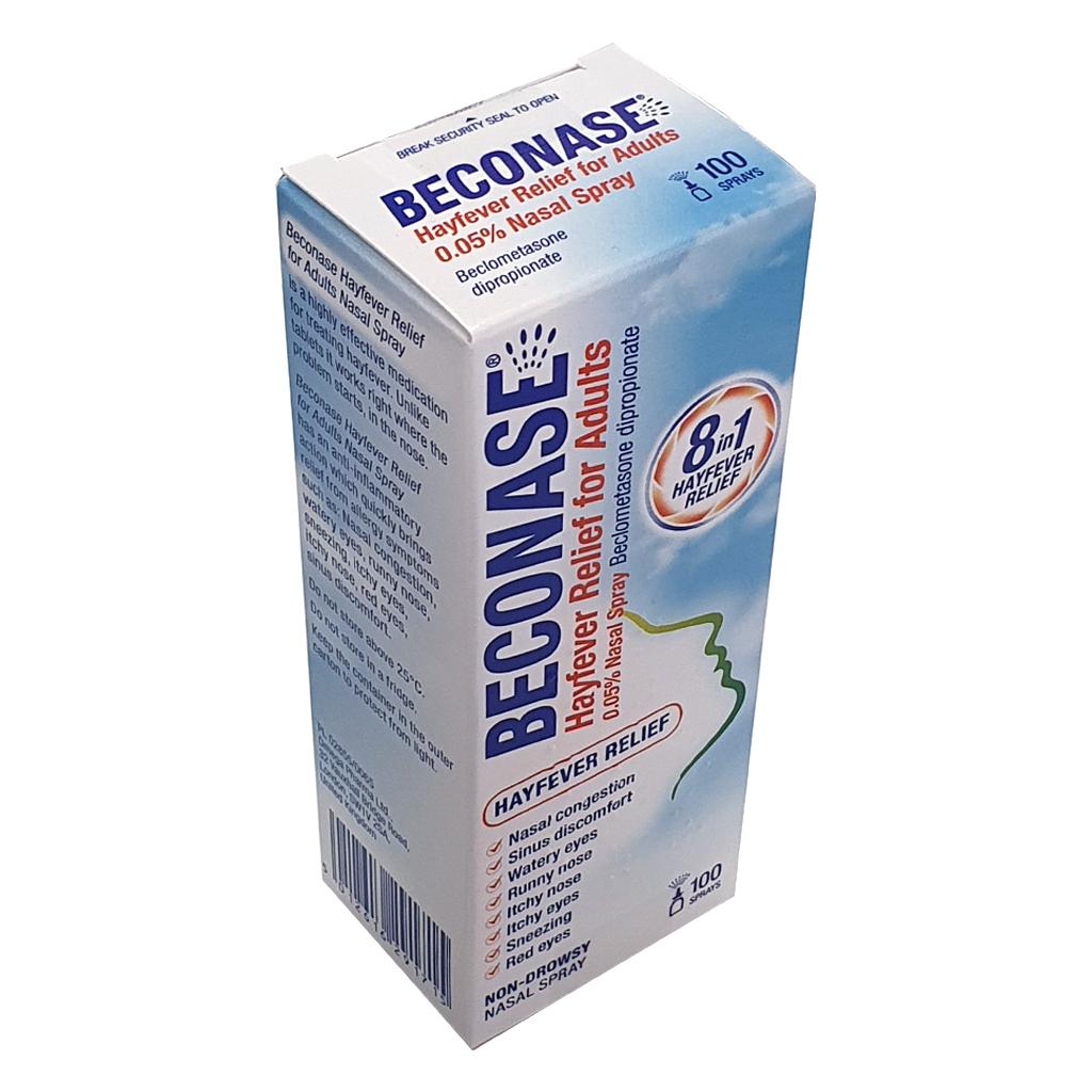 Beconase Allergy Nasal Spray 100/180 sprays (Beclometasone Dipropionate 50mcg) - Allergy and OTC Hay Fever