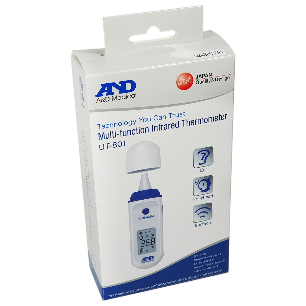 A&D Infrared Thermometer UT-801 - Electrical Health and Diagnostic