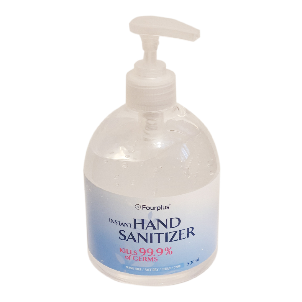 Hand Sanitiser Gel 500ml Fourplus - PPE - Personal Protective Equipment