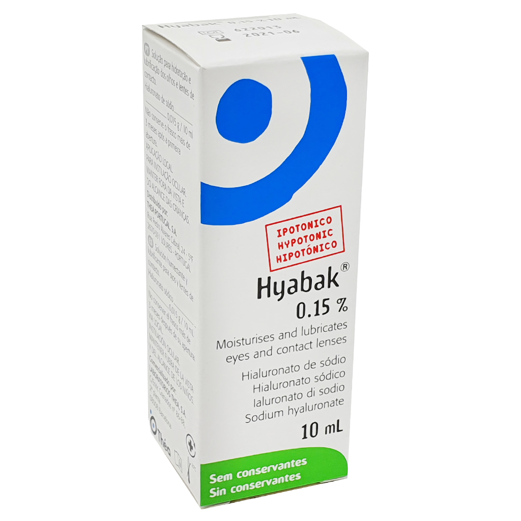 Expires End June 2021 - Hyabak Preservative Free 0.15% 10ml - Special Offers